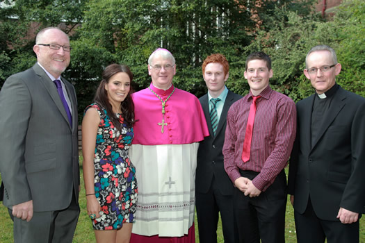 Professor Peter Finn, Martine O'Reilly, Bishop Noel Treanor, Mark Digney, Sean Ferris, Rev Dr Paul Fleming