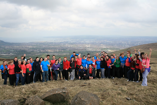 St Mary's Students take part in Black Mountain Charity Walk