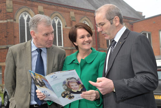 Senior Tutor Academic Affairs St Mary's - Dr John Sweeney, Minister of Education - Caitríona Ruane and Chief Executive of Comhairle na Gaelscolaíochta - Seán Ó Coinn