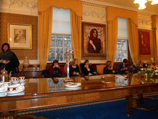 Lord Mayor Gavin Robinson hosted the students while they visited Belfast City Hall
