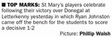 Dr McKenna Cup - St Mary's victory over Donegal