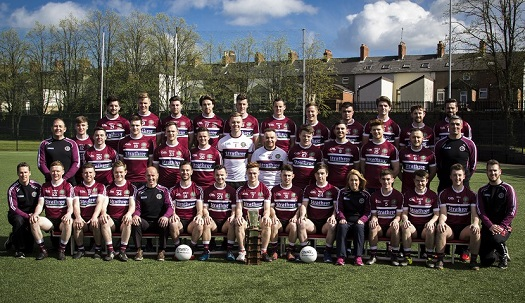 2017 Sigerson Cup Champions and Management Team