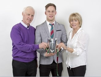 Kieran Mc Geary from Pomeroy with his parents, John and Kathleen