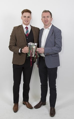 Team Captain, Conor Meyler and his dad Seany Meyler who was a Sigerson winner with UUJ