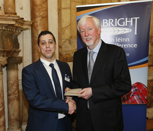 Professor John Hegarty (Chair of the Board for the Fulbright Commission of Ireland) with awardee Mr Anthony Duffy