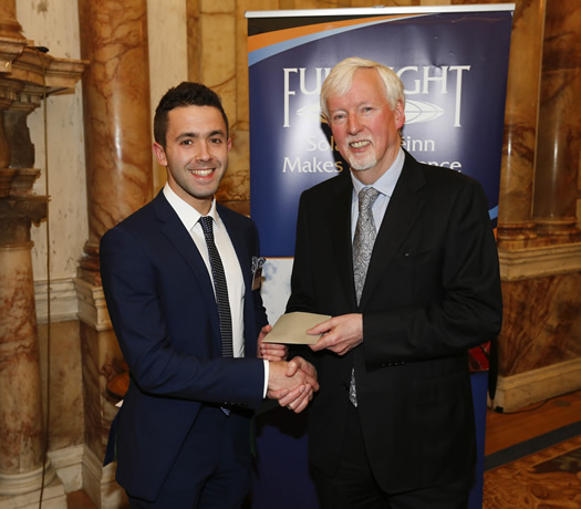 Professor John Hegarty (Chair of the Board for the Fulbright Commission of Ireland) with awardee Mr Fergal Rafferty